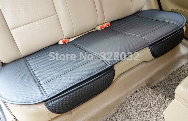 대나무 자동차 좌석 쿠션 숯 가죽 자동차 모 놀리 식 커버 뒷좌석 뒷좌석 사계절에 적합 1pcs 뒷좌석