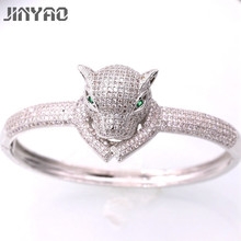 JINYAO Gorgeous White Gold Color Tigerl White AAA Zircon Women Wrist Bangle Bracelet For Women Gift Fashion Jewelry