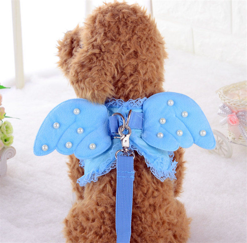 Bajila-Dog-chain-dog-breast-back-rope-pet-dog-rope-cute-lace-angel-pearl-wing-chest (2)