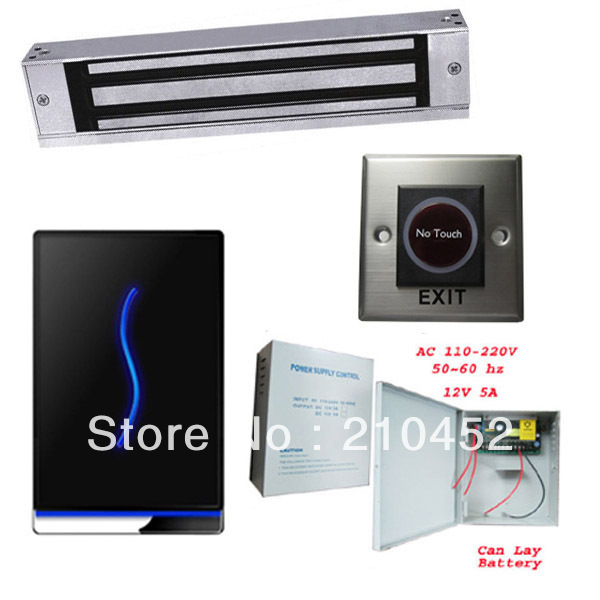 ZK SCR100 TCP/IP 125KHZ smart card RFID card access control system controller with power supply, exit button and magnetic lock zk vf300 face time attendance and access control with rfid card reader tcp ip touch screen facial door access controller system