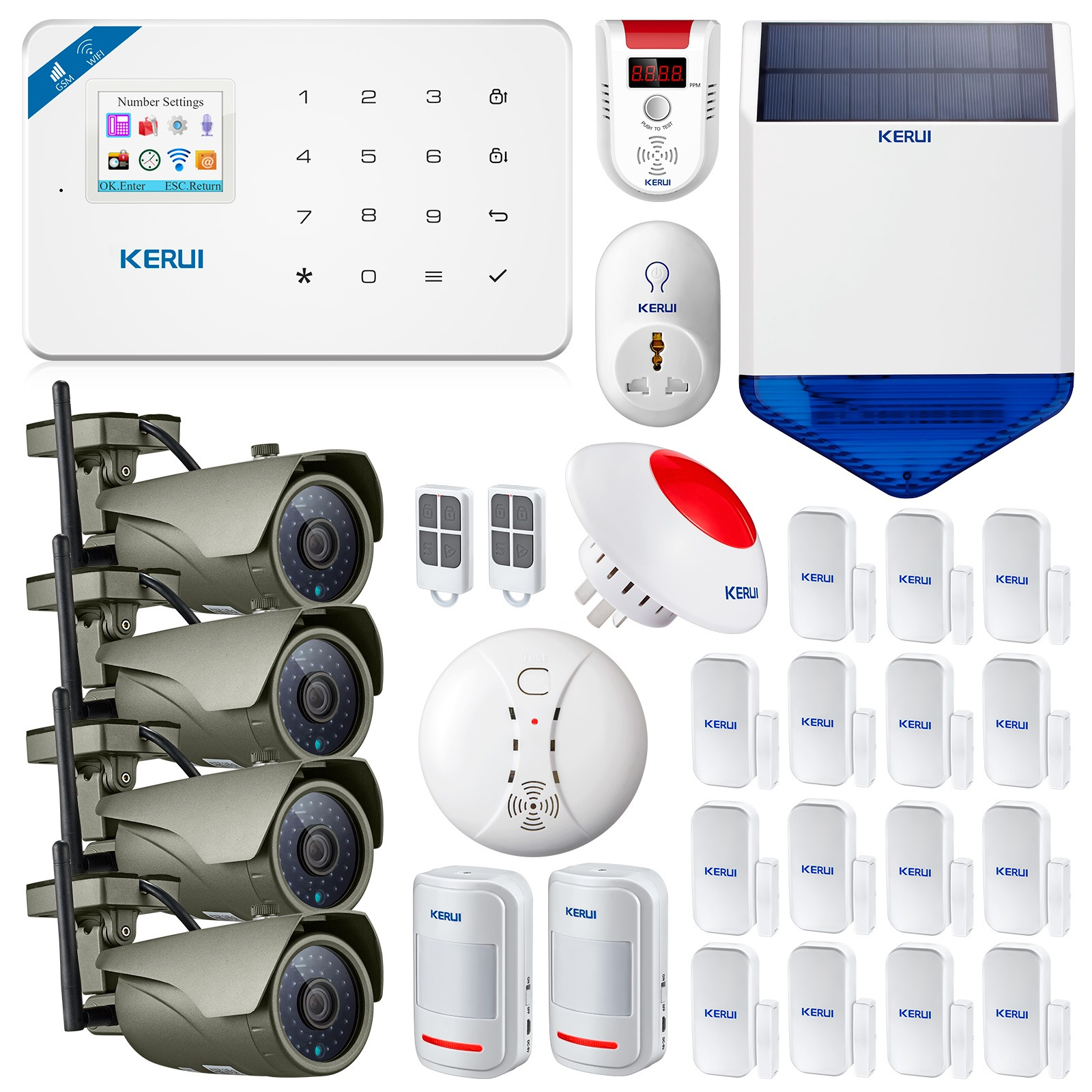 Back To Search Resultssecurity & Protection Security Alarm Rapture Kerui Smart Controller Alarm Alert Accessories Wireless Portable Remote Control For Kerui Gsm Pstn Home Security Alarm System