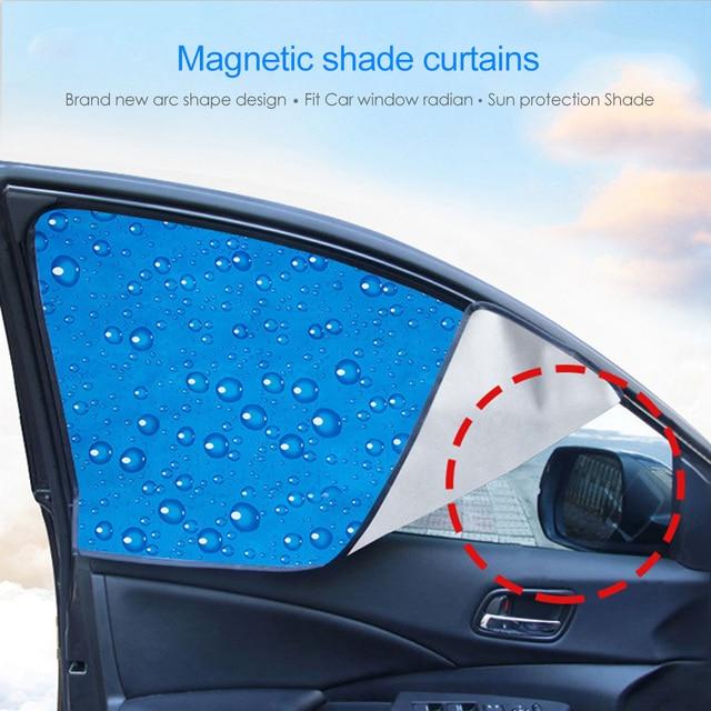 Single-Layer UV Solar Sun Protection Retractable Magnetic Car Curtains Side Visor Summer Sunshade Window Protector Baby 1