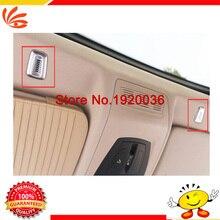 Car styling Chrome Interior Storage Box Handle Cover trim For 5 Series interior Door Speaker Sound Cover Trim 2PCS