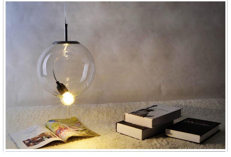 ФОТО D250mm Nordic Glass American Style Retro Pendant Lamp With E27 Edison Bulb Loft Vintage Pendant Light,Antique Pendant Lamp