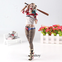 Crazy Toy Harley Quinn Figure Suicide Squad Joker's Girl Kids Action Figure Toys Gift 27 29cm KT4687