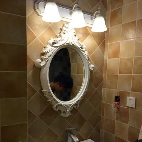 83cmx61 5cm American Antique Bathroom Oval Washroom European Style Bathroom Mirror Mediterranean Decorative Wall Mirror Large Bath Mirrors Aliexpress