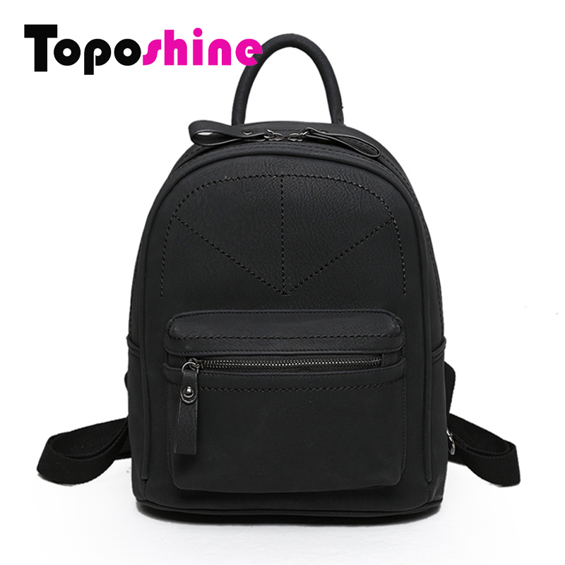 Toposhine Rotro Backpack Women PU Leather Bag Women Bag Small Women Backpack Mochila Feminina School Bags for Teenagers 1591 weave backpack women genuine leather bag women bag cow leather women backpack mochila feminina school bags for teenagers li 1390