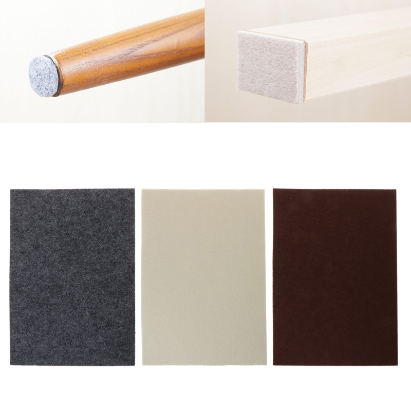 1pcs Oak Furniture Chair Table Leg Self Adhesive Felt Pads DIY Shape Self Adhesive Furniture Felt Pads To Protect Hardwood Floor