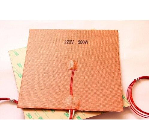 Coussin chauffant en Silicone 200x200mm 110 V/220 V 500 W pour imprimante 3D Cube Prusa i3 RepRap
