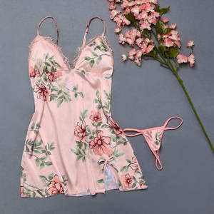 Fashion Sexy Flower  Lace Sleepwear Lingerie Temptation  Underwear Jumpsuit