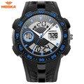 50 m Relógio À Prova D' Água Crianças HOSKA Moda LED Esporte Militar Relógios Analógico Quartz Digital Watch relogio masculino Dos Homens de Choque