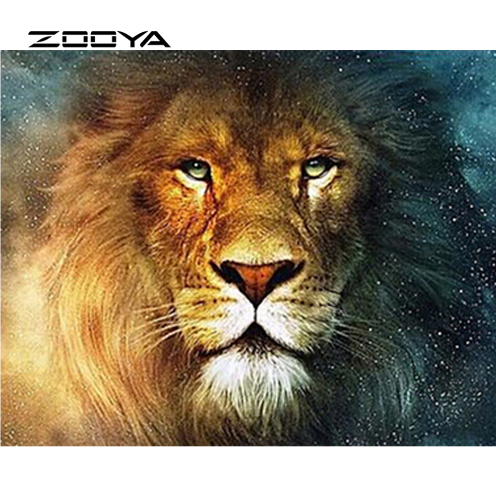 ZOOYA Diamond Painting Full Square Diamond Embroidery Needlework Diy Kit Sale Diamond Mosaic Hobby Crafts Lion King Animal SF100