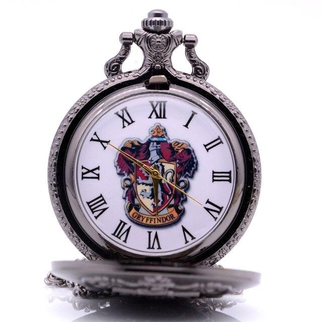 Vintage Antique New Hot Harry Potter GRYFFINDOR Mens Quartz Pocket Watch Analog