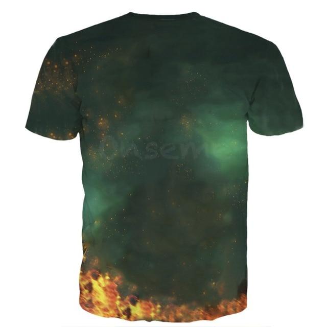 Newest Classic Anime Dragon Ball Z Super Saiyan 3D T-Shirt Fire Black Goku t shirts Galaxy t shirt tees Hip Hop Tees Tops