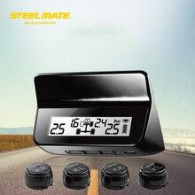 Steelmate ET-640AE DIY TPMS Car Tire Pressure Monitoring System Car Alarm System Diagnostic Tool LCD Display 4 Valve-cap Sensors