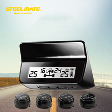 Steelmate ET-640AE DIY TPMS Automobile Tire Stress Monitoring System Automobile Alarm System Diagnostic Instrument LCD Show Four Valve-cap Sensors