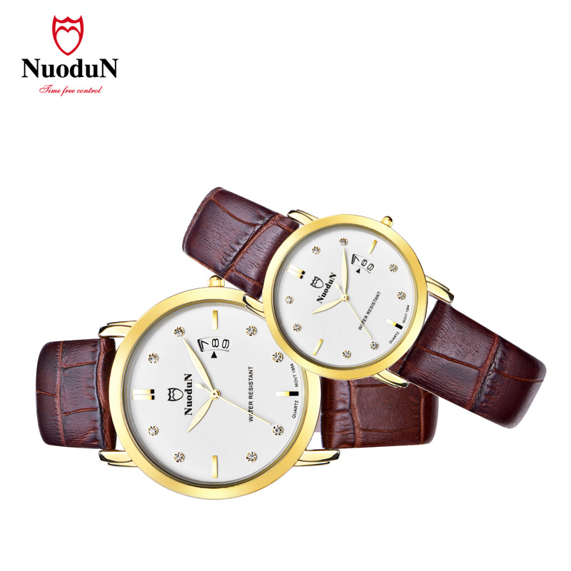 ФОТО Lovers Watch  men Women watches leather strap quartz watch Business sports dashboard Waterproof Quartz relogio masculino1954P PL