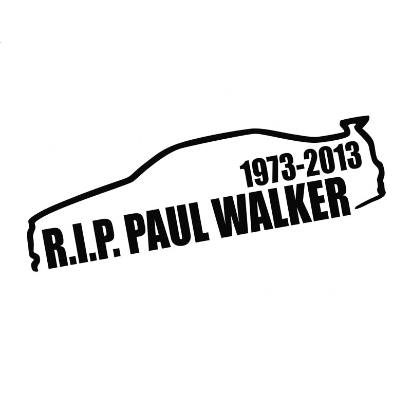 14 3cm 3 9cm Paul Walker Rip Vinyl Decal Lowered Illest Dope Stance Drift Custom Car Stickers And Decals Black Sliver C8 0456