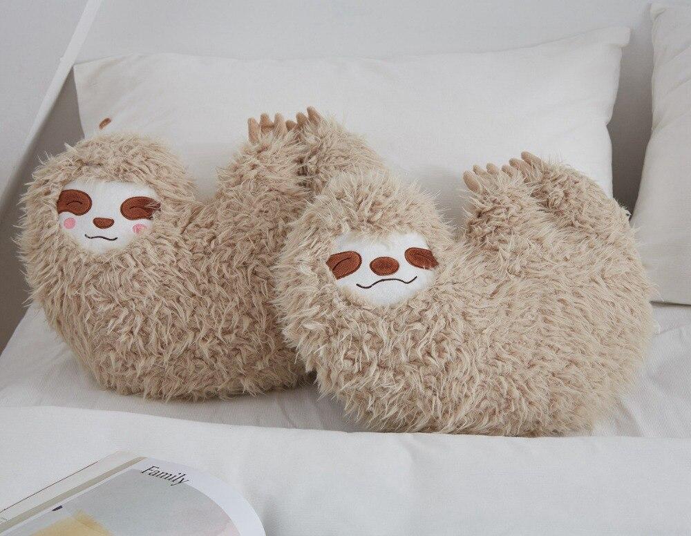 Sloth Plush Toy Animal Stuffed Doll Cartoon Pillow Sofa Cushion Home Decor Gift