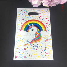 10pcs/pack Unicorn theme gift bag candy/loot for birthday party decoration Kids