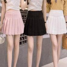 fc73e0504c Encantadora plisado cintura alta falda de Tenis falda tipo uniforme con  interior Calzoncillos cortos para el