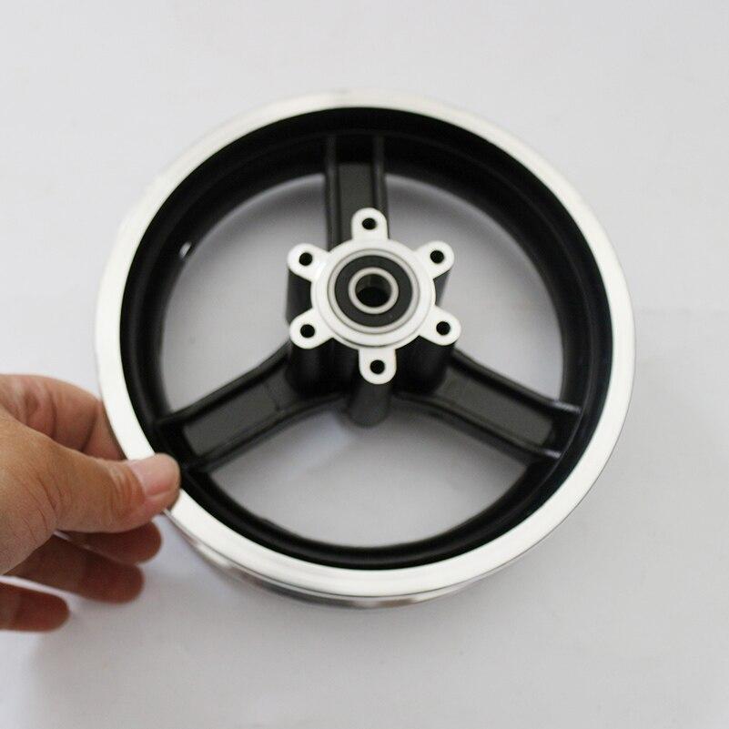 O envio gratuito de 10 polegada scooter elétrico roda hub 10 polegada liga alumínio jantes 10x2 10x2.125 10x2.50 10x2.25 pneus jantes