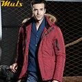 Мужчины пальто толстые градусов мужская красный меха с капюшоном куртка оригинальный парка пальто для мужчин napapijri одежда мужчины зимняя куртка GQ223