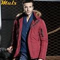 Hombres abrigos de espesor grado roja para hombre de la chaqueta con capucha de piel original ropa de hombre chaqueta de invierno parka abrigos para hombres napapijri GQ223