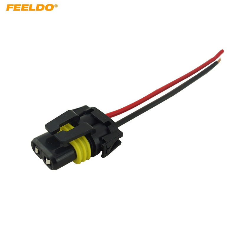 feeldo 1pc auto 9006 hb4 female adapter wiring harness nylon plug ABS Wiring Harness feeldo 1pc auto 9006 hb4 female adapter wiring harness nylon plug for headlights fog light fd 5451