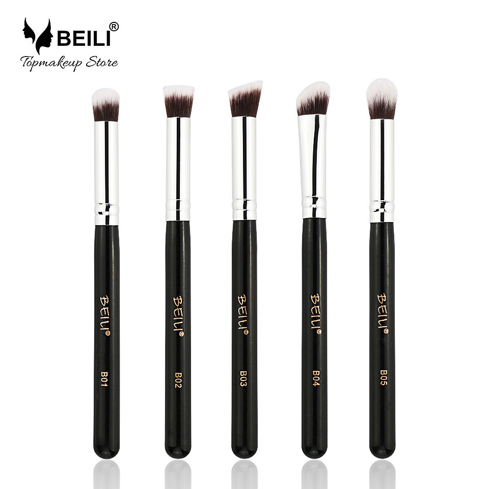 BEILI 5pcs Kabuki Synthetic Hair Eye Foundation Concealer Shade High Quality Makeup Brush Set stoeger x50 synthetic 4 5 мм 30113