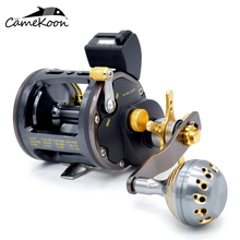 CAMEKOON Saltwater Fishing Reel 6+1 Ball Bearings 4.1:1 Gear Ratio Boat Drag Power Trolling Reel With Line Counter kastking kodiak saltwater spinning reel larger aluminum spool 18kg drag boat fishing reel with 11 ball bearings 5 2 1 gear ratio