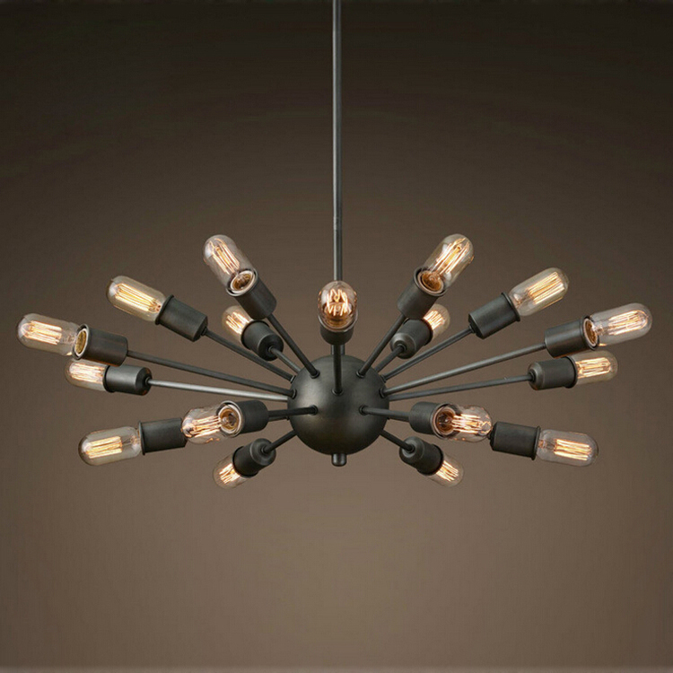 Black Wrought Iron Chandelier Lighting Vintage Metal Large Antique With 18 Lights Painted Finish E27 In Chandeliers From