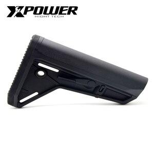Image 1 - XPOWER MOE Stock SL Style для пневматического ружья Airsoft Paintball аксессуары M4A1 Gel Blaster коробка передач Gen8 Jinming9 JIQU игрушечный пистолет Xpower