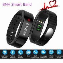 Pulsera inteligente SMA Reloj Pulsómetro Bluetooth Android Inteligente de Pantalla OLED Banda Pulsera Podómetro Fitness SmartBand