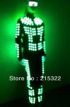 Free shipping LED Light costume / iluminated / Glowing /Luminous robot clothes LED Dance suit