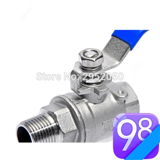 Free shipping Stainless Steel Ball Valve 1/2'' BSP Female x Male, Homebrew Plubmbing Hardware 1 1 4 dn32 female stainless steel ball valve 3 way 316 screwed thread manual ball valve handle t port gas oil liquid valve