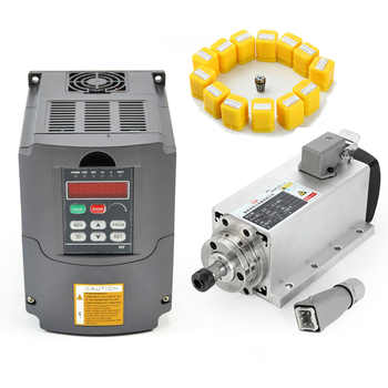 Free Shipping 1.5kw Air-cooled Spindle Motor kit Set CNC Spindle Motor + 220V/1.5KW Inverter Square CNC Milling Machine Motor - DISCOUNT ITEM  15% OFF All Category