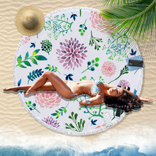 India Datura exotic tapestry macrame wall hanging beach towel round shape yoga mats home carpet bedding outlet