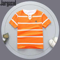 Jargazol T Shirt Kinder Kleidung Baby Boy Tshirt Stirpes Sommer Top Vetement Enfant Fille Nette Mädchen Kurzarm Camisetas Shirts