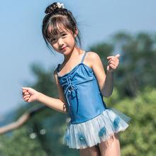Strój kąpielowy dla dzieci One Piece 2019 strój kąpielowy dla dzieci dziewczyny strój kąpielowy niebieski strój kąpielowy dla dziewczynek strój kąpielowy bikini dzieci tanie tanio Pasuje prawda na wymiar weź swój normalny rozmiar spandex Stałe ANH1025