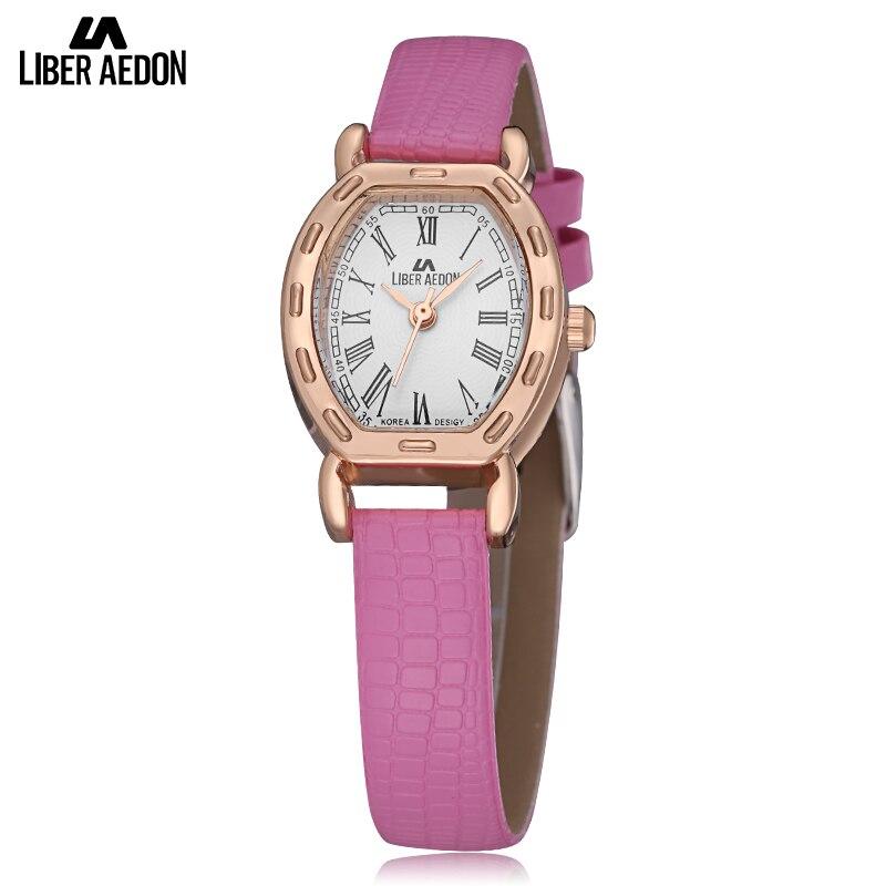 LiberAedon Fashion Lady Women Watch Luxury Brand Leather Band Wristwatch Gold Quartz Waterproof Bracelet Watch Relogio
