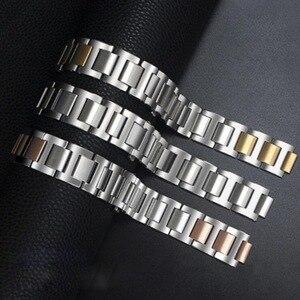 Image 5 - Neway נירוסטה שעון להקת עבור קרטייה Ballon Bleu כסף עלה זהב שעון רצועת צמיד גברים נשים רצועת השעון 9mm 11mm 12mm
