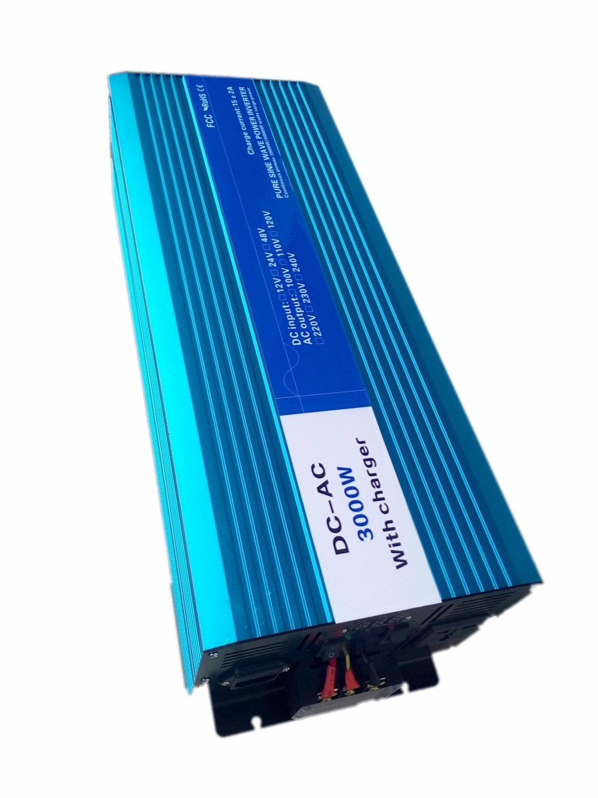 3000W Pure Sine Wave Inverter,DC 12V/24V/48V To AC 110V/220V,off Grid Solar voltage converter With Panel Charger And UPS boguang 110v 220v 300w mini solar inverter 12v dc output for olar panel cable outdoor rv marine car home camping off grid
