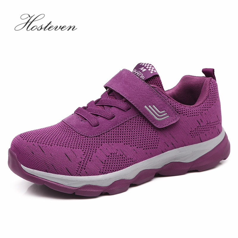 Hosteven Women Shoes Casual Loafers Sport Sneakers Fashion Walking Flats Breathable Air Mesh Summer Comfortable Ladies Shoe