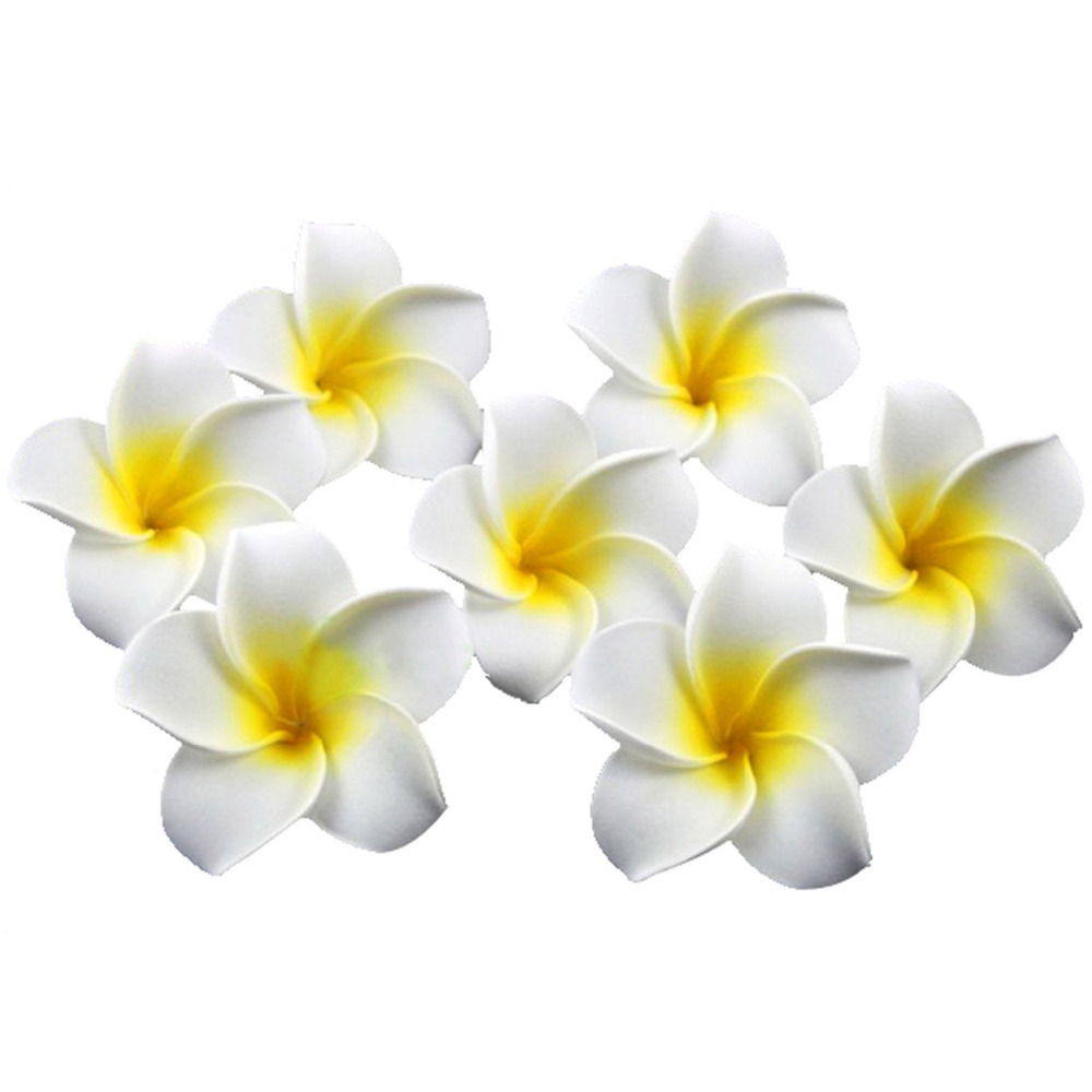 20pcs Hawaiian Hairpins Plumeria Flower Hair Clip Hair Accessory For