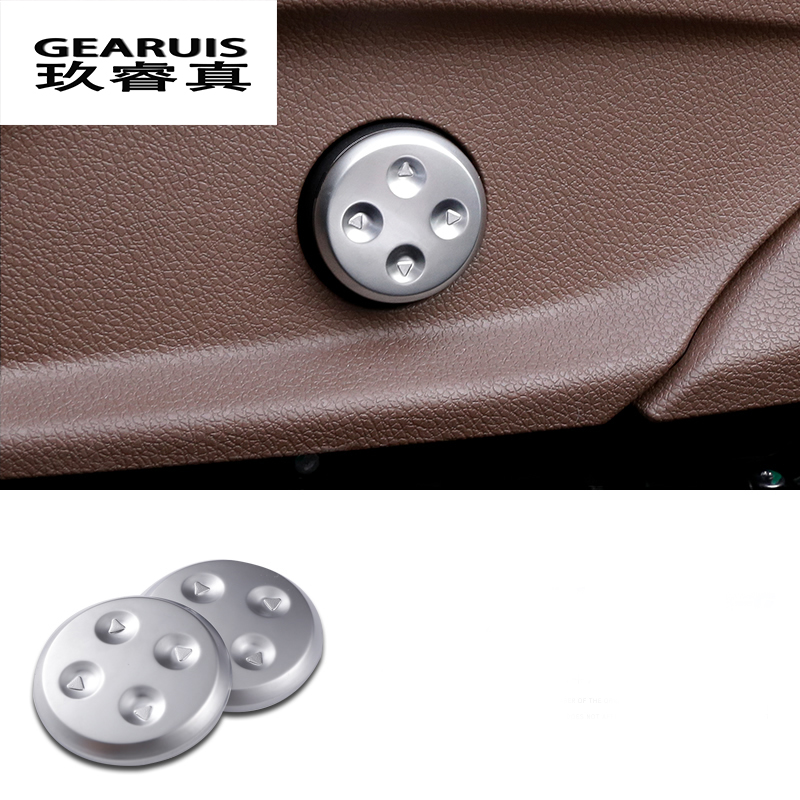 2pcs Car styling Chrome Seat Adjust Switch Button Cover Panel Trim For Mercedes Benz GLC/CLS/E/C Class W205 W213 Accessories chrome door audio speaker cover frame trim for mercedes benz c class w205 c180 c200 c300 2015 2016 car styling accessories