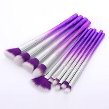 ISHOWTIENDA великолепные Beuaty 10 шт. фиолетовые Косметические кисти для макияжа кисть для основы пудра, кисть для теней на веки набор кистей для лица Cepillos