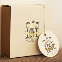 elegant flower design just love 95pcs Label Packaging Decoration Tags Wedding Favors Gifts Christmas Party Decor Hot Sale