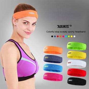 Cinta de cabeza para el sudor deportiva absorbente AOLIKES, banda para el sudor para hombres y mujeres, bandas para el cabello para Yoga, diademas para el sudor, seguridad deportiva