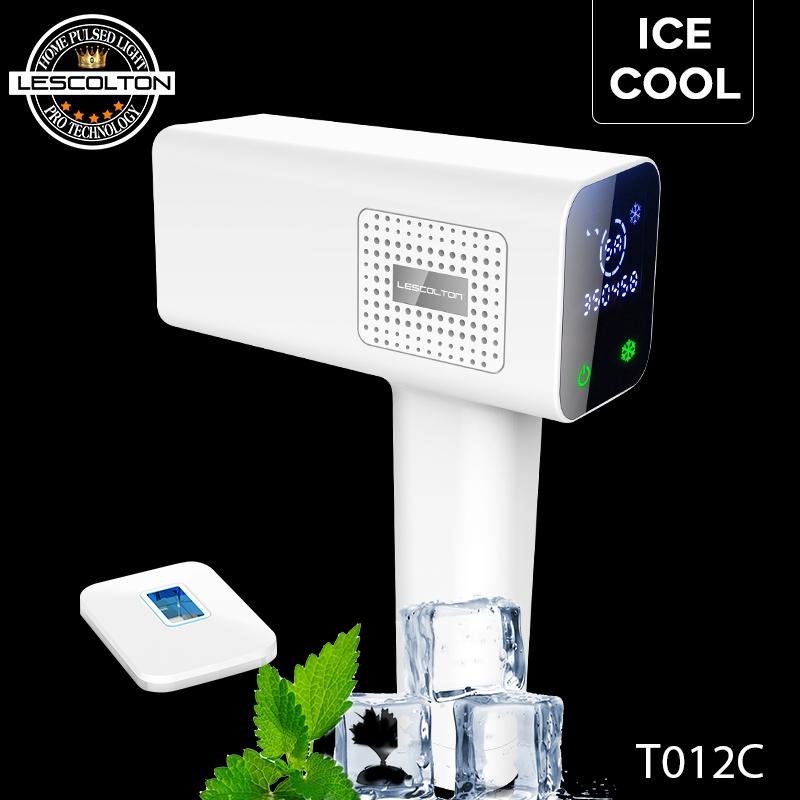 Lescolton The Newest Icecool 4in1 IPL Depilador Hair Removal Machine Laser Epilator Hair Removal Permanent Electric depilador
